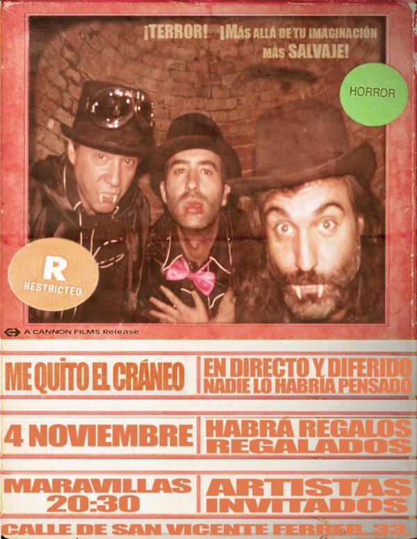 Lo de Me Quito el Cráneo no tiene nombre... o sí. Mucho humor y mucho rock and roll en lo que sin duda será una velada inolvidable