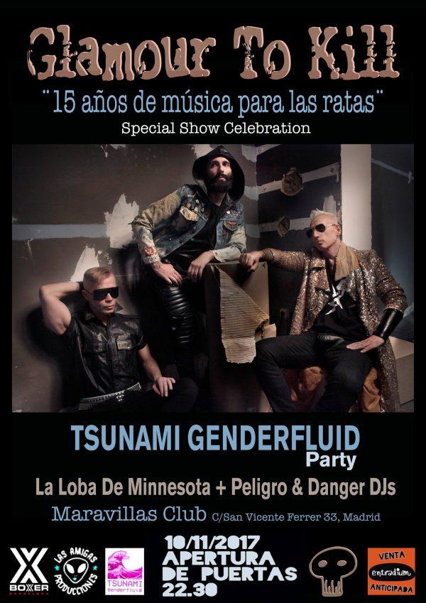 Glamour to Kill inauguran nuestra nueva fiesta, Tsunami Genderfluid
