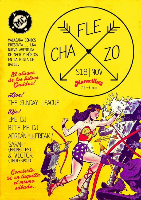 Malasaña Cómics presenta: The Sunday League (live) + Flechazo Djs