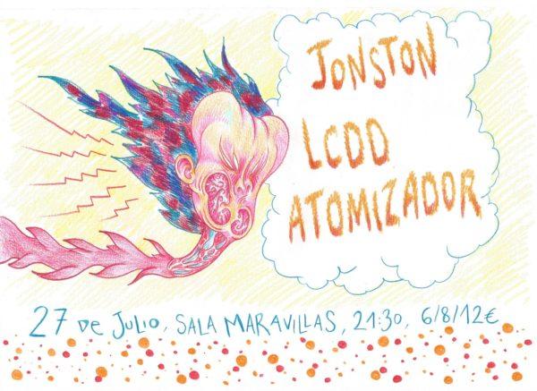 Maravillas Club tiene el placer de presentar a tres JOYAS de la escena madrileña: Atomizador + Jonston + Los Caballos De Düsseldorf (Cartel: HAZ)