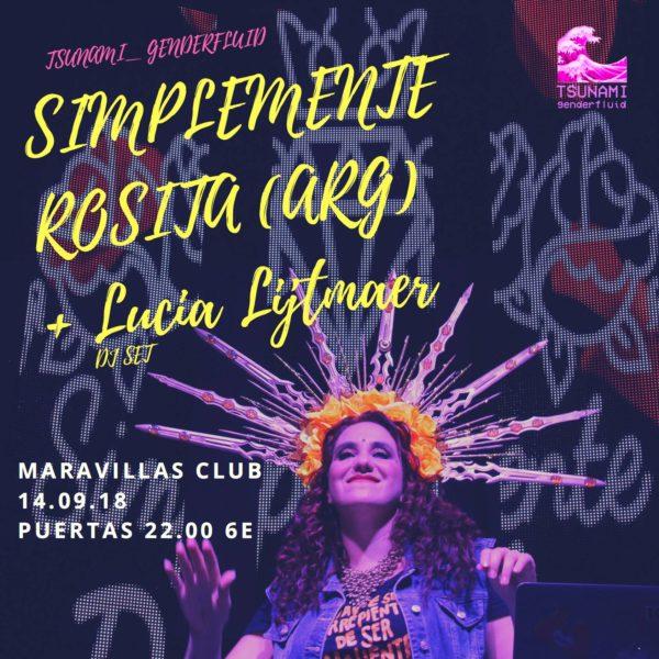 Los shows de Simplemente Rosita son una experiencia colectiva! Septiembre 2018 en Maravillas Club