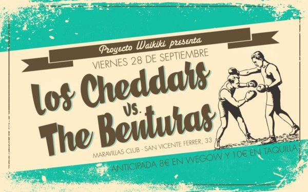 No Waikiki No Party! Proyecto Waikiki vuelve a Maravillas Club con las pilas recargadas y dos propuestas cargadas de energía guitarrera: Los Cheddars + The Benturas