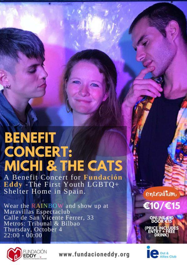 Michi& The Cats nos traen su música y su talento por una buena causa: Los beneficios del concierto irán para la Fundación Eddy-G