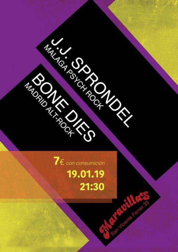 J.J. Sprondel + Bone Dies: Sonidos rockeros para la noche del sábado