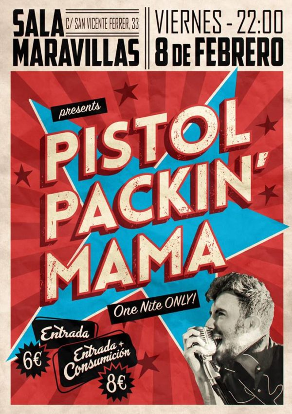 Pistol Packin' Mama es puro rock and roll de los 50's