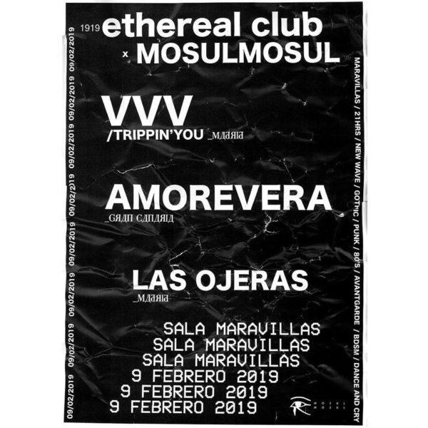 VVV + Amorevera + Las Ojeras 🖤Post punk para las oscuras de hoy