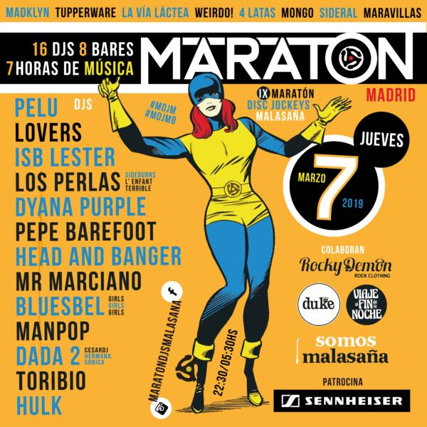 Participamos en el IX Maratón de djs de Malasaña