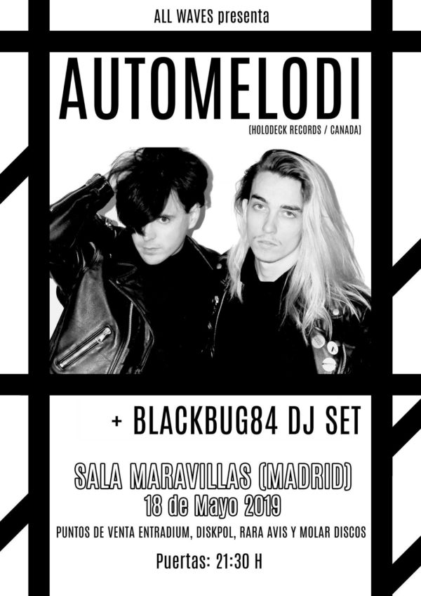 All Waves Promotions presenta: Automelodi (Holodeck Records/Canadá)