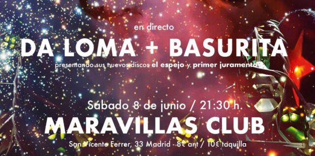 Presentación en concierto de los debuts discográficos de Daloma (El espejo) y Basurita (Primer juramento)
