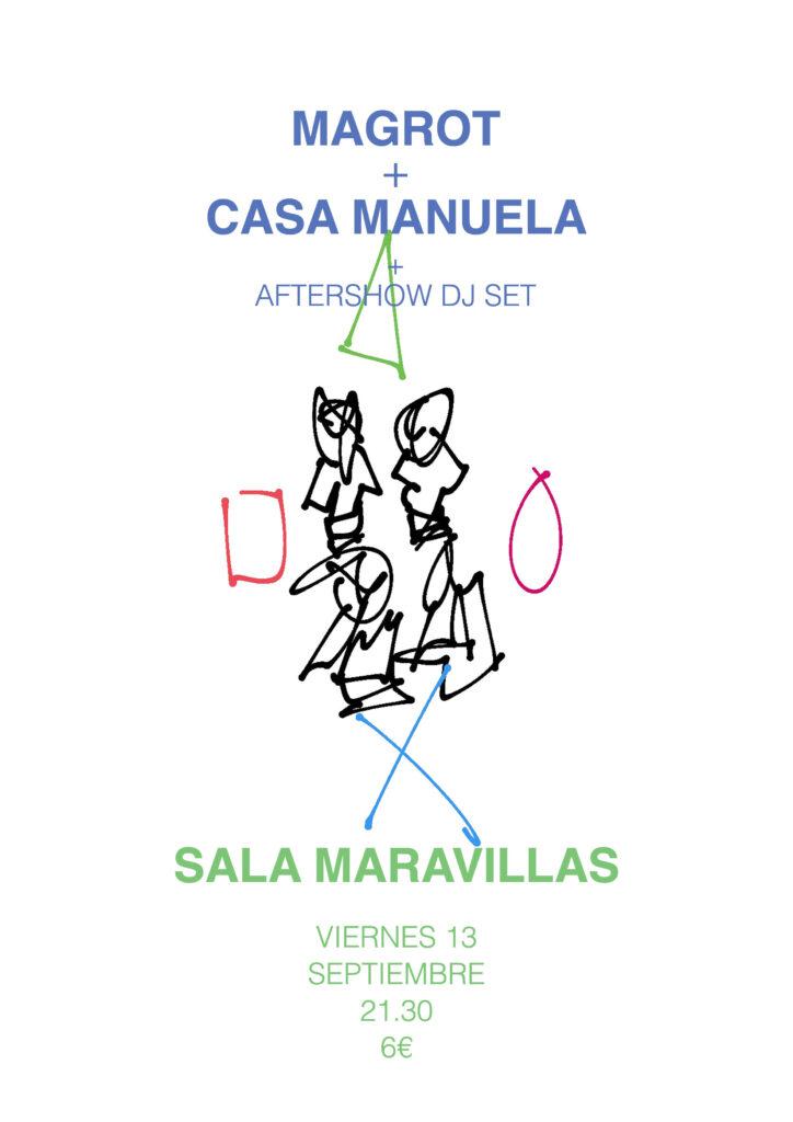 Magrot + Casa Manuela: Sonidos frescos de pop y folk alternativo
