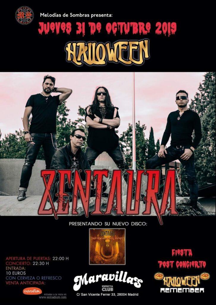 Halloween Remember, la noche más siniestra con Zentaura en concierto